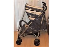 MY BABIIE PUSHCHAIR , PRAM ,LIES FLAT AND SITS UP HAS RAINCOVER , GWO