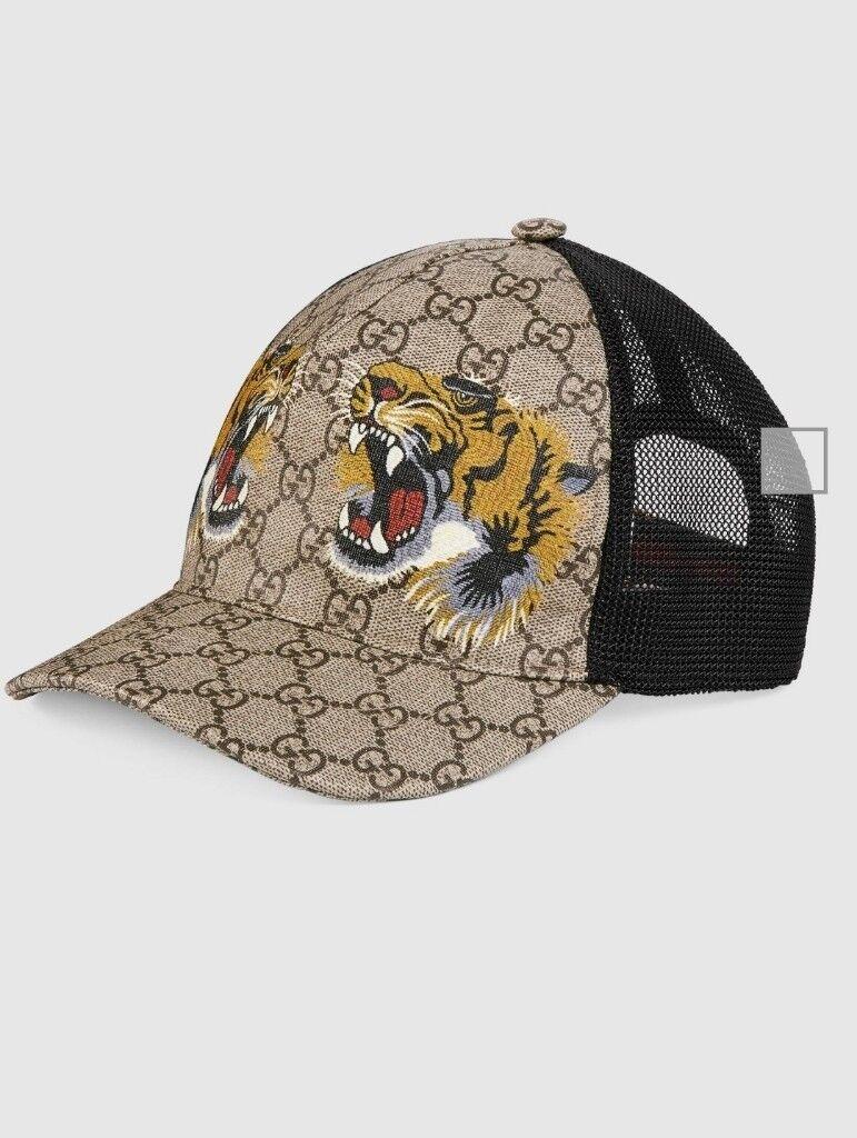 1f5cad9630e Gucci Mens Tigers print GG Supreme baseball hat