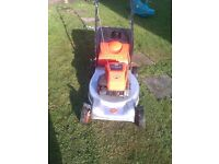 flymo quicksilver , self propelled petrol lawnmower, starts first time briggs and stratton 3.5hp