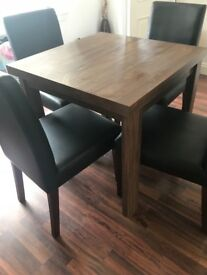 Next Home Dining Table 4 Chairs
