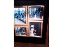 BRAND NEW TRULY LOVELY BLACK PHOTO ALBUM WITH FOUR SILVER FRAMED PHOTOS ON IT'S COVER