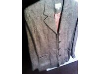 TRULY LOVELY ALWAYS CURRENT ORIGINAL DESIGNER SMART WOOL AND SILK JACKET, COAT