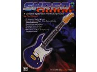 Shred Guitar Book with TAB and Backing CD's by Paul Hanson.