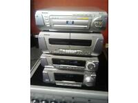 technics 5 disc dvd hifi and 5 speakers