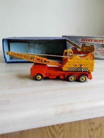Old dinky and matchbox diecast toy vehicles