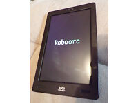 "Kobo arc 7"" tablet HD 16 GB, excellent condition with charger in box, skype enabled."