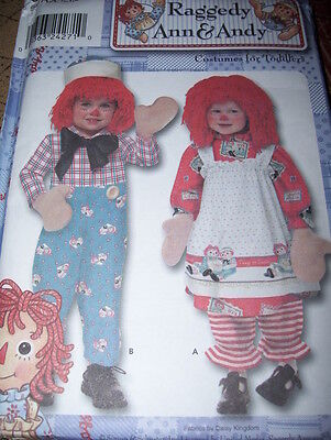 SIMPLICITY #9375 - INFANT & CHILDREN RAGGEDY ANN & ANDY COSTUME PATTERN  3-8  FF
