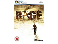 Brand New Rage PC game,dvd, New Rage Anarchy PC game,DVD 3 disk's, manual&case.(.No Product cd key),
