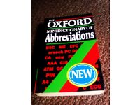 OXFORD MINI DICTIONARY OF ABBREVIATIONS, LITTLE POCKET SIZE BOOK