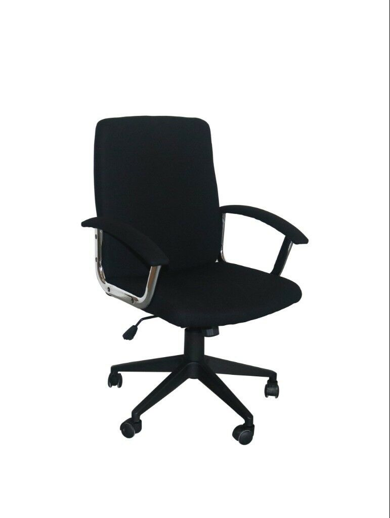 New Stylish And Comfortable Black Fabric Office Home Study Computer Desk Chair