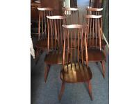 Six Ercol Goldsmith Highbacked Dining Chairs