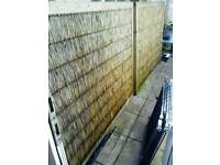 Wicker/Bamboo Garden fence panels x 4