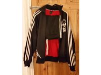 Black Adidas Originals FULL tracksuit jacket Jogging Bottoms. Joggers Mens S / Womens. Boys Unisex