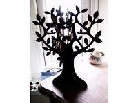 ORIGINAL TRULY LOVELY STURDY BLACK JEWELLERY TREE FOR EARRINGS, BRACELETS, NECKLACES
