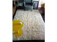 large 100% shag pile wool rug
