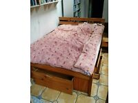 solid wood double cabin bed