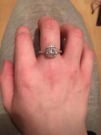 Women's silver plated medium ring