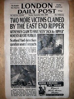 (426) NOVELTY POSTER HALLOWEEN JACK RIPPER LONDON WHITECHAPEL NEWS 11