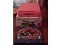 Pink record player & Disney box set