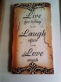 BRAND NEW LOVELY FASHIONABLE VERSATILE HANGING UPLIFTING REMINDER SIGN PLAQUE