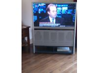 52 inch rear projection TV with remote