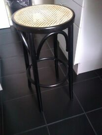 ONLY ONE VERY GOOD QUALITY BLACK REAL WOOD HIGH STOOL, CHAIR, SEAT