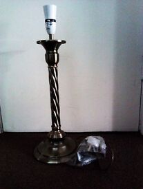 ONE LOVELY BRAND NEW TABLE LAMP WITH FITTINGS