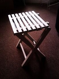 A VERY VERSATILE LITTLE FOLDING SEAT - HANDY AND USEFUL EVERYWHERE REALLY
