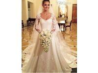 NEW wedding dress and veil UK 10