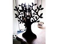 ORIGINAL TRULY LOVELY STURDY BLACK JEWELLERY TREE FOR EARRINGS, BRACELETS, NECKLACES