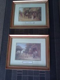 PAIR OF NICELY FRAMED LIMITED EDITION 'WITH HORSES' PRINTS, PHOTO, PICTURE, PAINTING