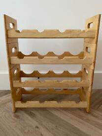 Set of 4 x solid wood stackable wine racks