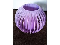 ORIGINAL TRULY RETRO ONLY ONE LOVELY LILICY-GREYISH CEILING OR LAMP SHADE