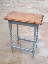 Barley Twist Rustic Oak Shabby Chic Small Console Table