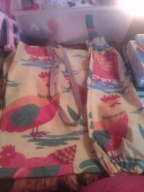 brand new handmade apron and bag carrier set