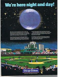 FIRST NIGHT BASEBALL GAME WRIGLEY FIELD 1988 Great Offer London Ontario image 1
