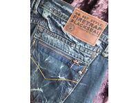 New FIRETRAP Ladies Blackseal Cropped Jeans Waist 34 (16)