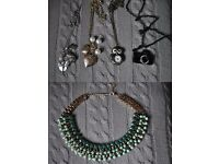 All necklaces,bracelets, earrings and watch for £5.00