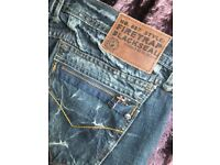New FIRETRAP Ladies Blackseal Cropped Jeans Waist 34 (16)