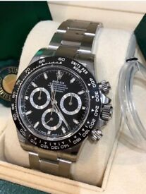 Rolex Daytona Ceramic Black Dial Stainless Steel Watch 116500LN