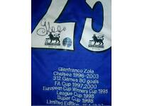Zola signed limited Edition Chelsea shirt