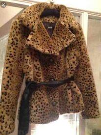 Morgan de Toi leopard fur jacket