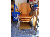 3 used chairs in good condition