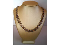 gold and silver plated necklace