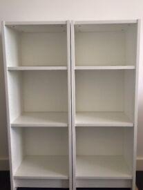 2x Ikea BILLY bookcase 40x28x106cm