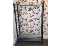 BEDROOM CLOTHES RAILS AND FREE STANDING SHELVES UNIT