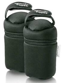 Two insulated bottle warmers
