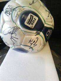 rare signed la galaxy football