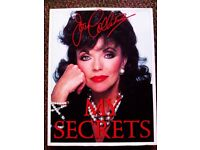 ORIGINAL FAMOUS JOAN COLLINS 'MY SECRETS' TRULY EVERGREEN AND MUST HAVE BOOK