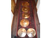 5 SABIAN CYMBALS FOR SALE! GREAT CONDITION!